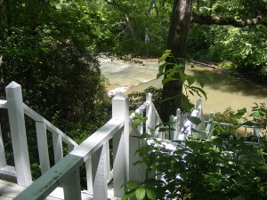 river & deck